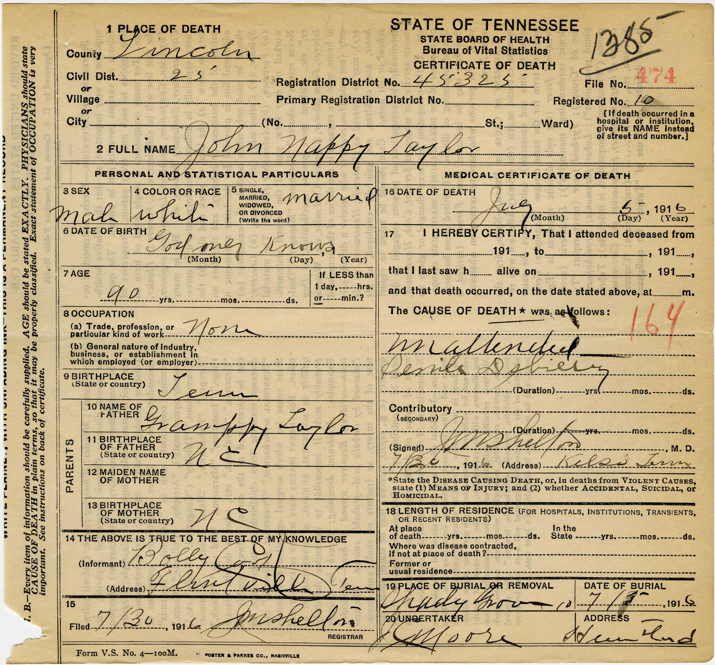 Tslafamily business how you find it how you keep it microfilm research research photo john nappy taylor death certificate 1betcityfo Image collections