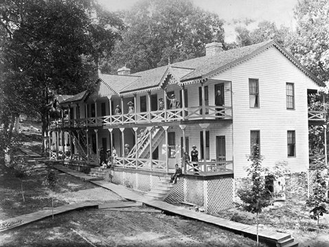 The First Bon Aqua Springs Hotel Ca 1870s Looking Back At Tennessee Photograph Collection